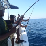 Fishing off of the boat
